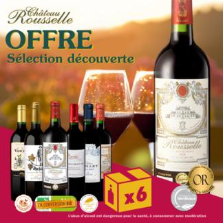 Offre promotion 6 bouteilles de vin rouge de Bordeaux